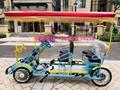 4 people rickshaw bike self-driven pedal