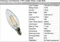 CE Dimming Led Filament 1W Candle 35mm  Light Bulb 4