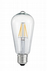 Hot sale E27 3.2W high quality Dimmable LED filament vintage bulb ST64