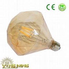 DIY Diamend decorate Tawny LED filament bulb hotel light
