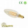 CE Dimming Led Filament 3.5W Candle 35mm E14 Light glass Bulb 2