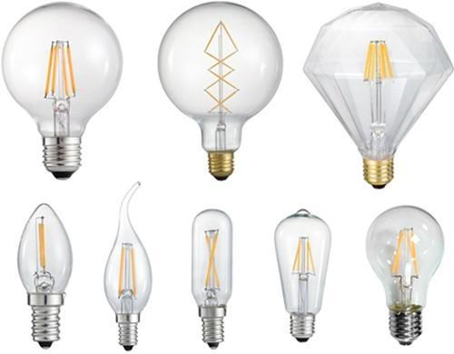 CE Dimming Led Filament 3.5W Candle 35mm E14 Light glass Bulb 3