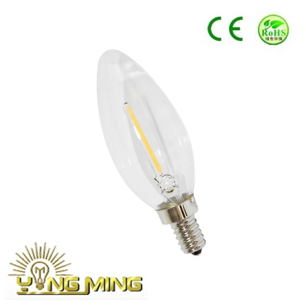 CE Dimming Led Filament 1W Candle 35mm  Light Bulb 1