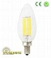 CE Dimming Led Filament 1W Candle 35mm  Light Bulb 3