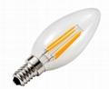 led decorative filament led 3.2w 1.5W  E14 dimmble  candle bulb 2