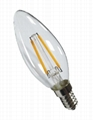 led decorative filament led 3.2w 1.5W  E14 dimmble  candle bulb 3