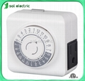 1-outlet mechanical fixed-time timer
