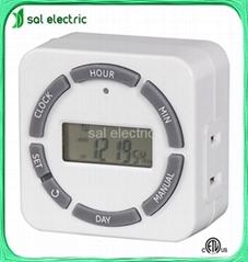 1-outlet weekly digital timer