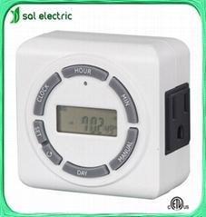 Battery backup digital timer socket