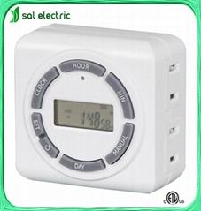 2-outlet digital indoor timer socket