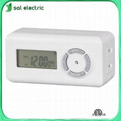 2-outlet digital indoor timer switch