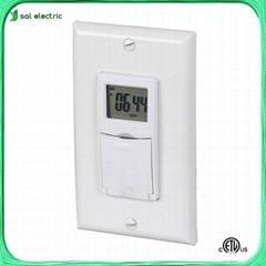 weekly digital in-wall timer