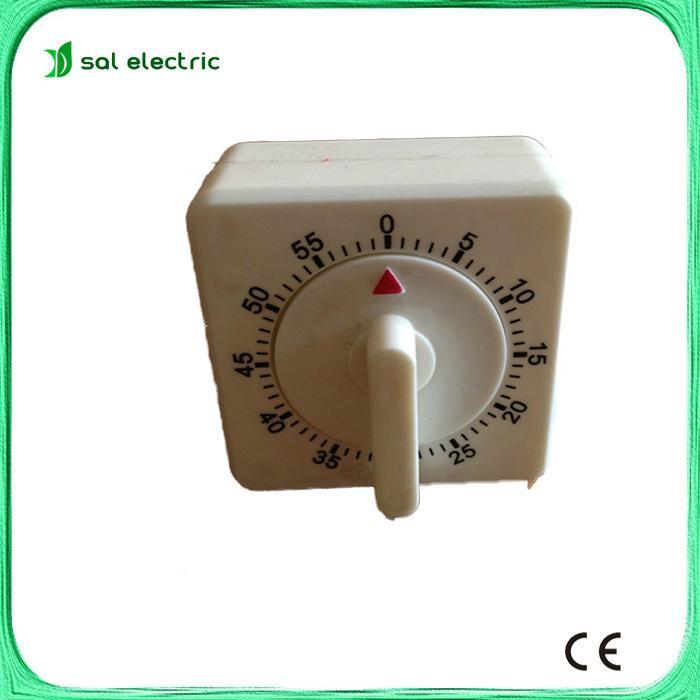 White Square 60-Minute Mechanical kitchen timer 1