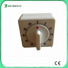 White Square 60-Minute Mechanical kitchen timer