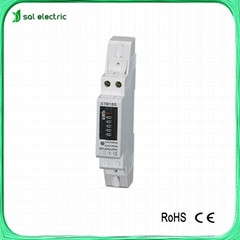 din rail single phase electric meter