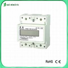 single phase LCD digital din rail electrical meter
