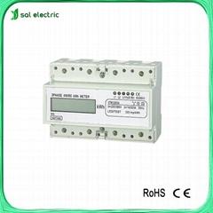 three phase digital electrical energy meter