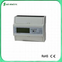 Smart three phase power/voltage/current meter 4 tariff wireless power meter
