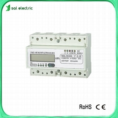multi rate din rail three phase electrical meter