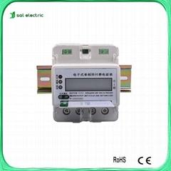 single phase 4p din rail prepaid electrical meter