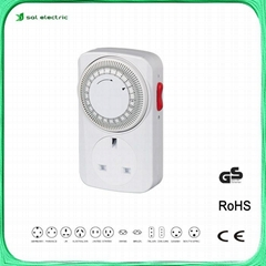 24 hours plug timer socket with CE certificate