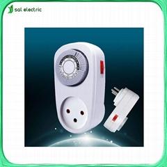 Israel market 24hours mechanical timer socket
