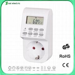 digital plug in timer with germany 2 pin plug