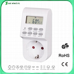 230V 16A Weekly LCD Digital Timer Plug Electric Smart Timer Switch
