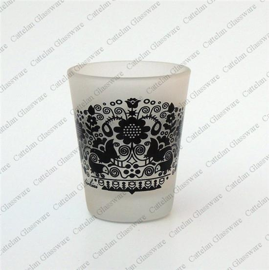 Glass candle holder 3