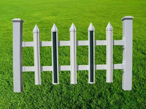 阿坝木纹色PVC塑钢栏杆 5