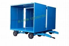 2吨厢式平板拖车 无动力全挂车