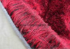 china polyester silk shiny soft shaggy carpets rugs,shag rugs