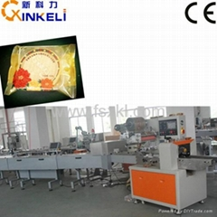 Full Auto Biscuit Horizontal Flow Wrap Machine with Feeding Line