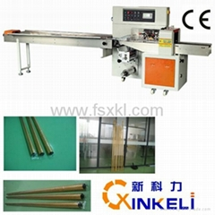 Servo Down Paper Pillow Packing Machine for Metal Pipe