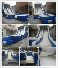 Blue Inflatable wate slide