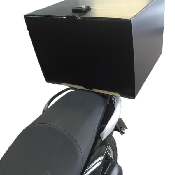 High quality plastic corrugated correx pizza delivery box for scooter bike 2