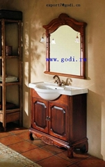 antique solid wood bathroom cabinet GM10-08