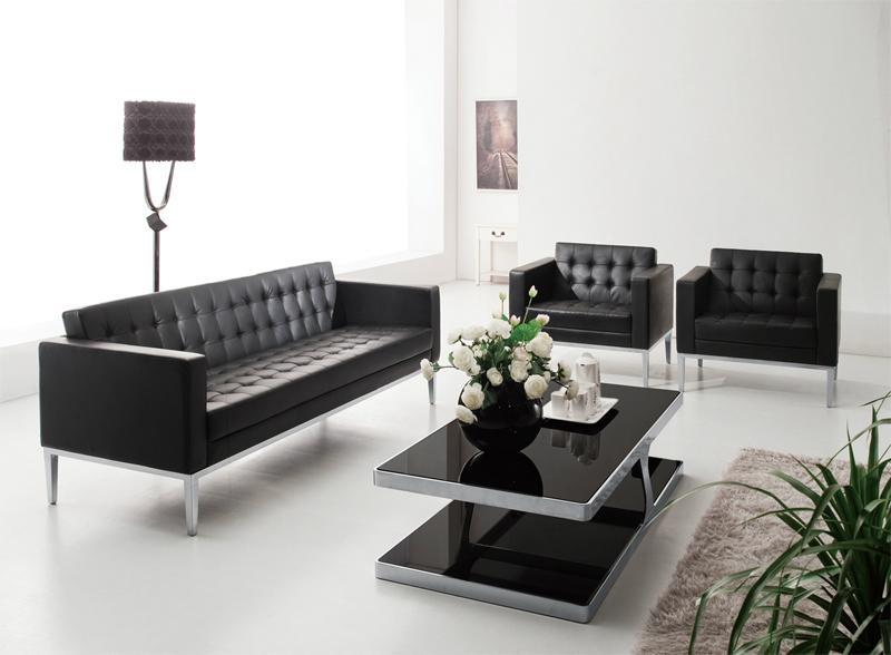 黑色真皮沙發 1