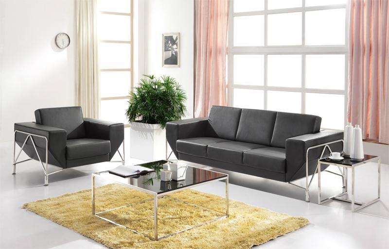 黑色真皮沙發 2
