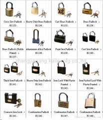 cross slor padlock.cast brass padlock.iron packed lock with