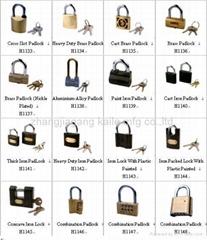 cross slor padlock.cast brass padlock.iron packed lock with