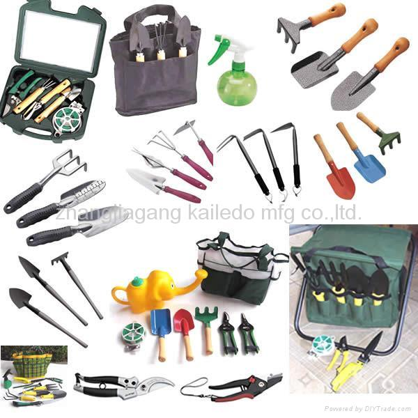 All sorts of horticultural garden tools