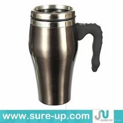 New luxury design stainless steel fancy mug wholesale thermos mug car mug warmer