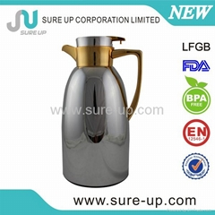 Fashionable stainless steel coffee thermos jug