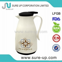 2014 new model glass liner vacuum coffee thermos