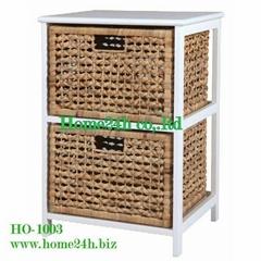 Home basket Handmade Water Hyacinth Cabinet 2 Drawers