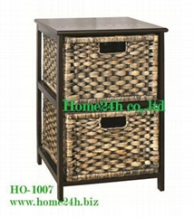 Home basket Handmade Water Hyacinth Cabinets - 2 Storage Drawers