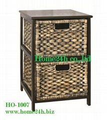 Home basket Handmade Water Hyacinth Cabinets - 2 Storage Drawers
