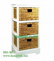 Water Hyacinth Cabinets 3 Storage Drawers