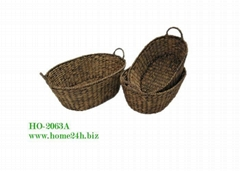 Home basket Best selling Water Hyacinth basket s/3